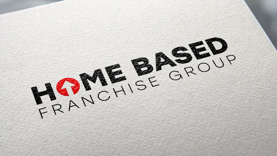 The Home Based Franchise Group logo portrayed on a white piece of paper